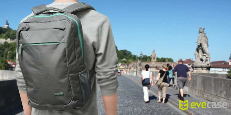 Evecase Lightweight Nylon Water Resistant Backpack