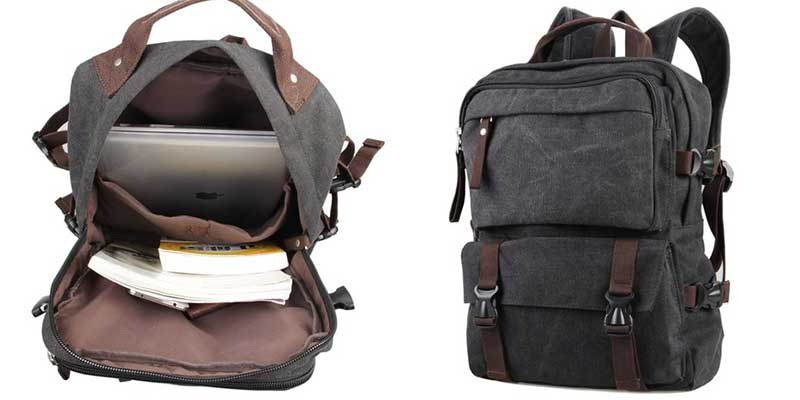 Polare Canvas Backpack for 15.6 Inch Laptops