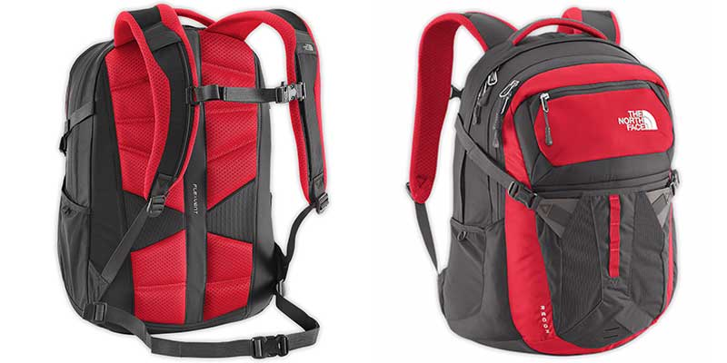 The North Face Unisex Recon Backpack for Macbook pro - Front and Back