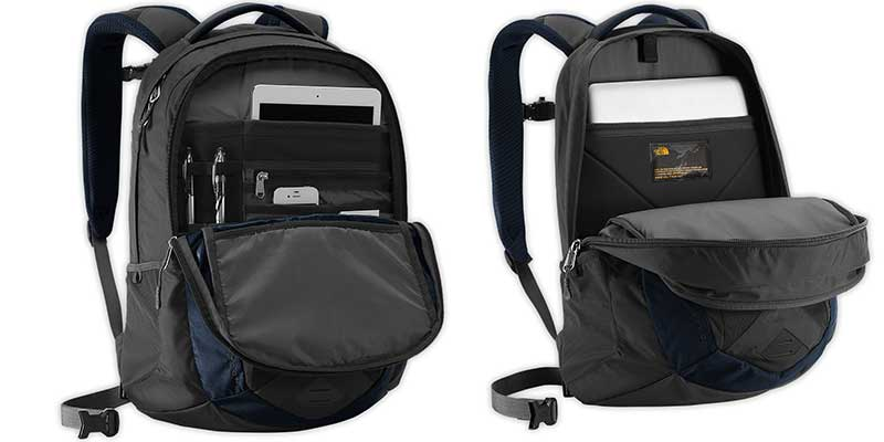 The North Face Unisex Recon Backpack for Macbook pro - Inside the backpack